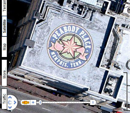 Peabody Place Roof Ad in Google Maps