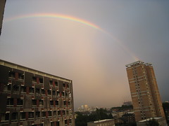 Rainbow tower panorama (Horse-crack) Tags: sky buildings eastend exteriors lubetkin sivillhouse georgelovelesshouse
