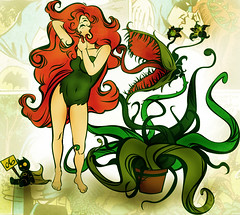 poisonivy (MarvinThaMartian) Tags: plant hot sexy nature girl up monster pin bruce wayne cartoon bad evil ivy vegetable story comix batman joker poison carnivorous edera velenosa