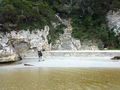 Arrivée au ruisseau de Sperone : préparation à la traversée