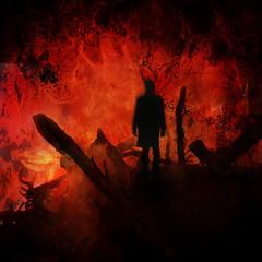 Drown In Ashes (Midnight - Digital) Tags: dark fire artwork chaos sinister dante smoke gothic digitalart hell 666 evil creepy burning satan horror inferno heavy cdartwork celticfrost