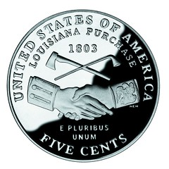 United States coin commemorating the bicentennial of the Louisiana Purchase
