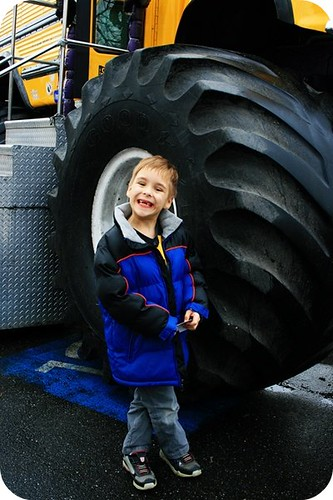 {day 24} big tire, little boy