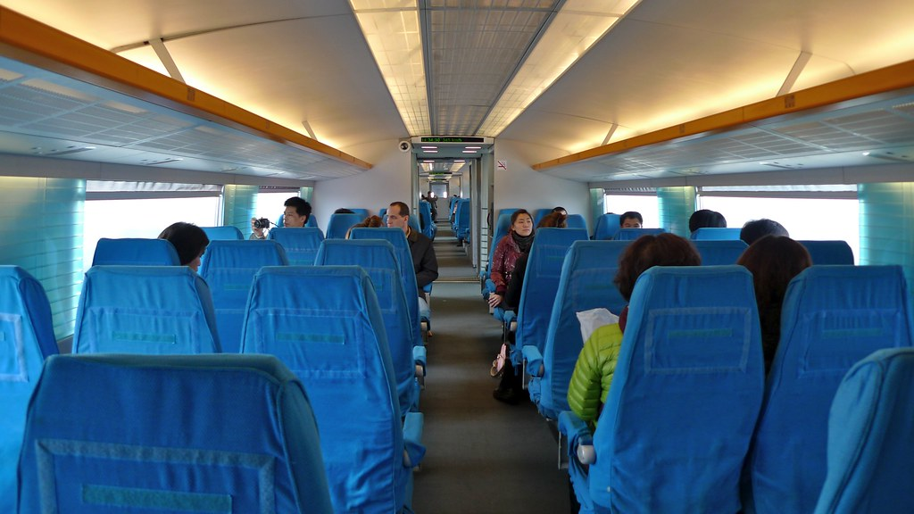 Inside of Shanghai Maglev Train