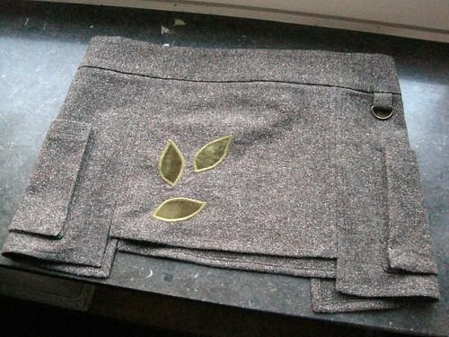 Wrap skirt behind