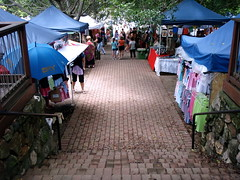 outdoor market stalls