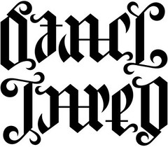 """Stacy"" & ""Jared"" Ambigram"