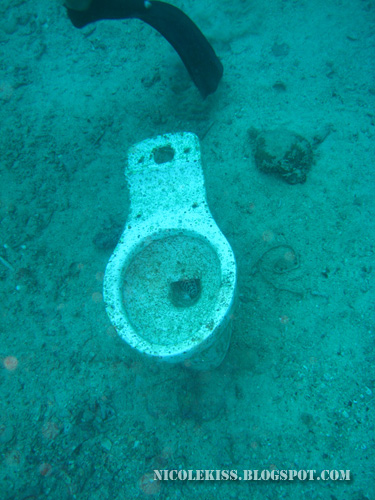 toilet bowl underwater