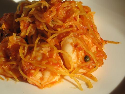 Shrimp & Spaghetti Squash Fra Diavolo