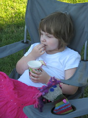Izzie relaxes at the picnic
