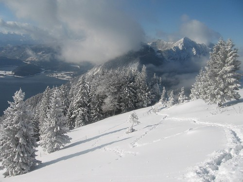 Sonnenschein auf Schnee