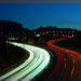Light trails @ A8 in Donostia (Basque Country)