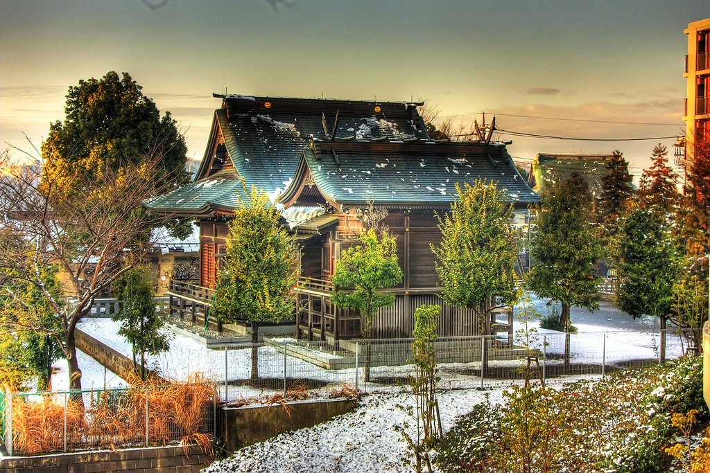 Snow Covered Sugiyama Shrine