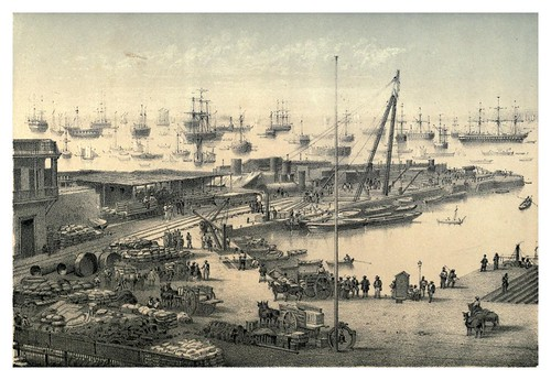 008-Puerto del Callao-Lima-Peru-Lima or Sketches of the capital of Peru-1866- Manuel Atanasio Fuentes Delgado