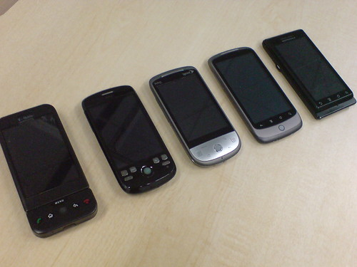 My HTC android collections + Milestone