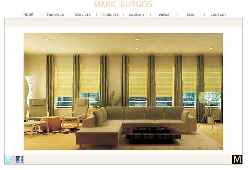 Marie Burgos Design Website front page