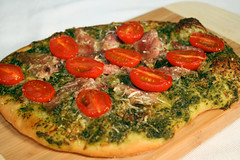 Ham And Tomato Pizza With Italian Salsa Verde Sauce (AmazingSandwiches) Tags: christmas stilllife food cooking vegetables canon tomato recipe baking dough ham pizza ingredients eats sandwiches bake breads pesto grape parmesan grub meats cheeses foodblog pizzadough salsaverde eos30d sandwichrecipe recipeingredients 580exii foodrecipes cookingblog amazingsandwiches amazingsandwichescom sandwichrecipes sandwichstyles amazingsandwich italiansalsaverde cookingstyles