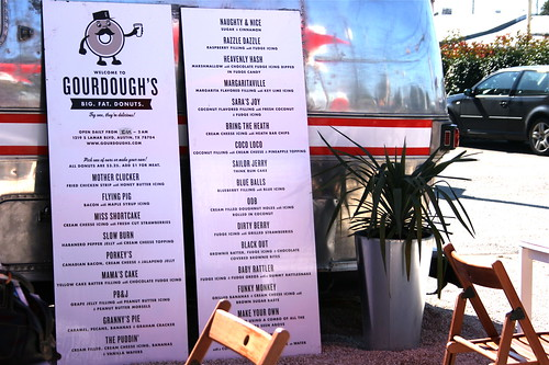 Gourdough's menu