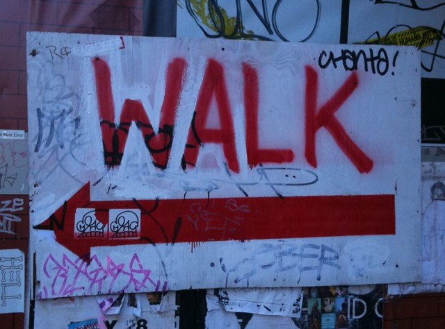 improvised walk sign #walkingtoworktoday