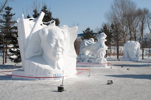 Mao snow sculpture