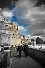 (Matteo Settegrana) Tags: sky people rome roma castle clouds nikon persone cielo lungotevere castello castelsantangelo preti cieloromano matteosettegrana