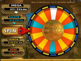 free Mega Moolah Isis gamble bonus game