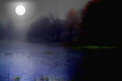 Lycanthropes Awakenng ( D L Ennis) Tags: light lake misty werewolf night digitalart fullmoon spirits photoart nocturne werwolf beckons fullbore lycanthrope lycan dlennis lycanthropesawakenng