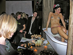 Earthly delights 4 (Roving I) Tags: food candles lasvegas events sydney parties australia desserts entertainment nudity performers gstrings bathtubs promotions gypsywood nippletassels