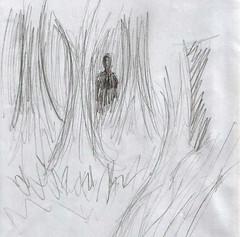 Varjo-olento Omaran piirtämänä