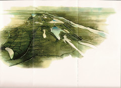 reclaimed landscape (Derrill Shuttleworth) Tags: watercolor reclamation ariealview birdseyeperspective minereclamation closurereport