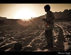 Simple Life ! (Bashar Shglila) Tags: city sunset game sahara festival child play desert libya ghat libyen lbia libi libiya liviya libija     lbija  lby libja lbya liiba livi