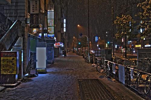 Snow Day at Hongo, Tokyo
