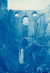 The New Bridge, Ronda, Spain (Swedish National Heritage Board) Tags: bridge españa waterfall andalucía spain ronda malaga spanien cyanotype riksantikvarieämbetet theswedishnationalheritageboard newbridgeronda elbalcóndelconio happybirthdayflickrcommons