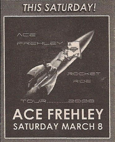 03/08/08 Ace Frehley@ Milwaukee, WI (Ad)