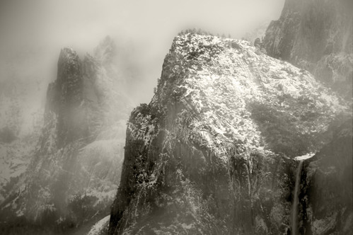 Cathedral Spires and Bridalveil Falls