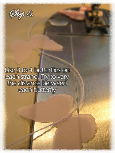 Step 5 (Tutorial- How to make a Chandelier Style Butterfly Mobile)