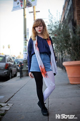 HiStyley l Sunset Junction Street Style  #276 (HiStyley) Tags: california ca street city red portrait people girl fashion scarf la losangeles women style tights redhead hollywood lipstick streetfashion streetstyle jeansshorts histyley cassidyblack