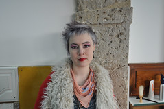 jezz with new haircut (wip-hairport) Tags: portugal silver hair purple lisbon staff hairport