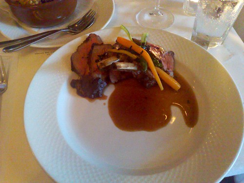 rose veal rack & sauce Périgueux featuring winter Périgord truffles