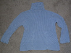 Blue Thrift Store Sweater