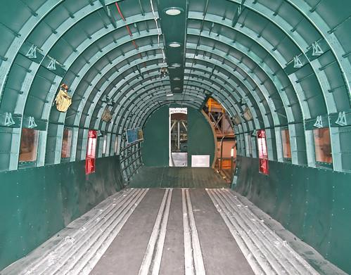 Douglas C-47a Skytrain (42-92841) Cabin, Looking Aft