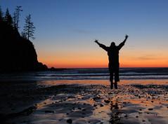 jump for joy (carolyn_in_oregon) Tags: sunset beach oregon coast al jumping allie pacificocean oswaldweststatepark smugglerscove shortsandsbeach