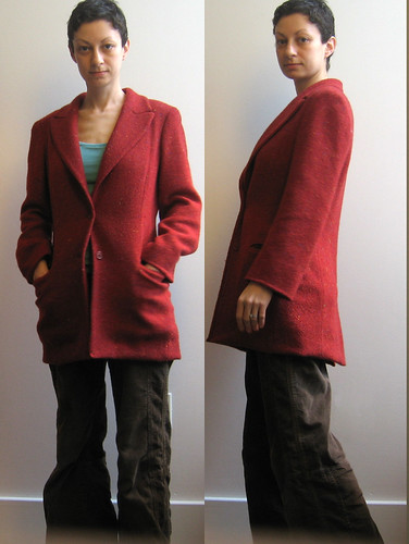 shortened red coat