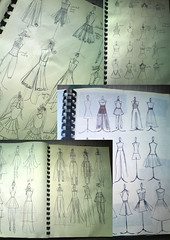 bridal design2 (Art Fountain) Tags: people fashion collage pencil drawings sketches coloured dollies doodling shading