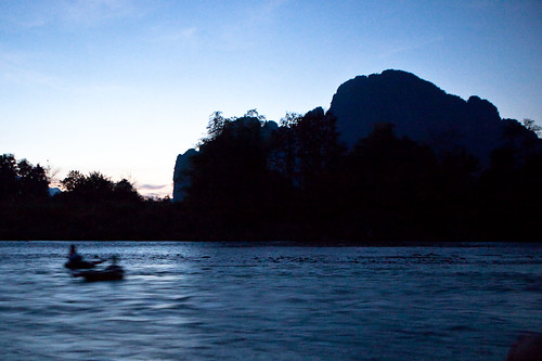 Last Tubers of the Day, Vang Vieng