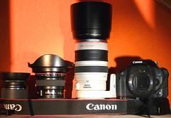 My Gear (08.2009) (alex ktz) Tags: camera canon lens is battery gear equipment usm grip ef bg gearporn efs1855 objektiv batterygrip ef1740l ausrstung canon100400mmf4556lisusm eos500d