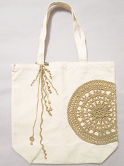 100% Organic Cotton Canvas Tote Bag (Tomiffy Design) Tags: handmade crochet canvas etsy organiccotton ecobag