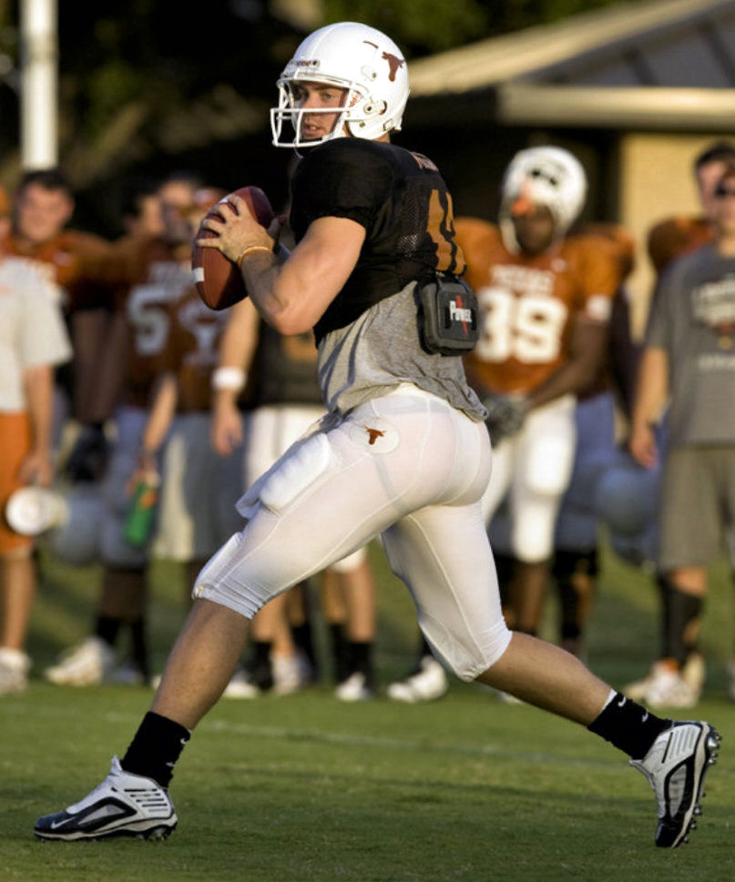Rear View of Colt McCoy