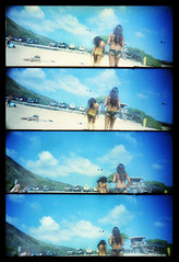 Hawaiian Visions (Justin Ornellas) Tags: ocean blue justin art film beach water analog 35mm vintage hawaii holga interesting jump lomo supersampler grain wave retro explore flip hawaiian splash agfa lowfi luckybrand ornellas ornellaswouldgo