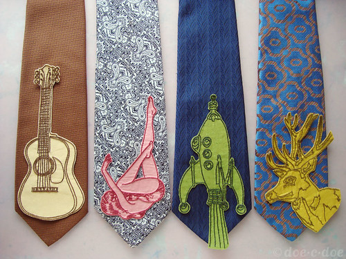 embroidered tie wips